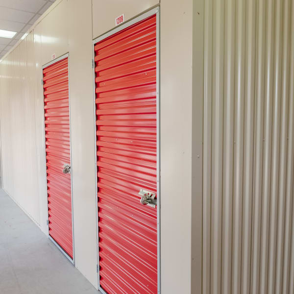 Indoor storage units at StayLock Storage in Muncie, Indiana