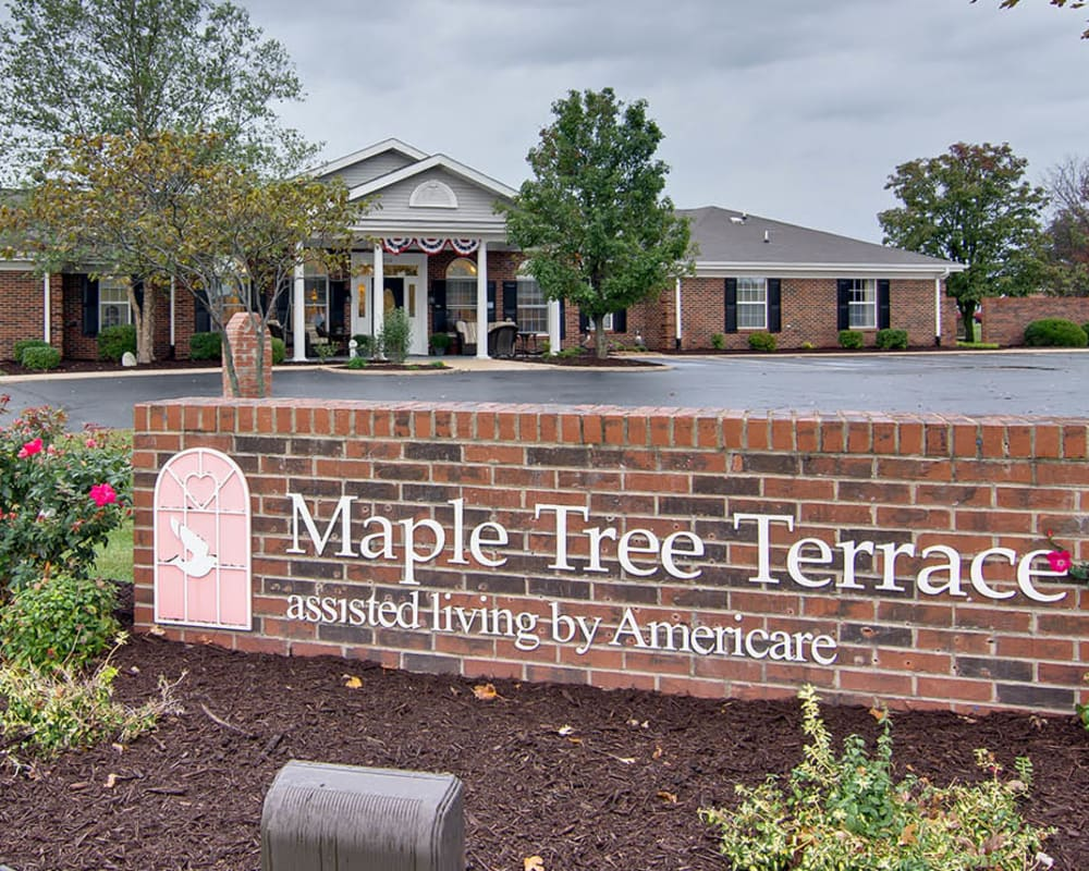 Main sign at Maple Tree Terrace in Carthage, Missouri