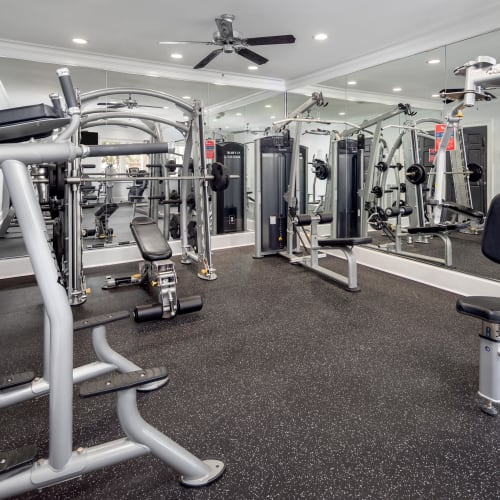 View virtual tour of the fitness center at Cavalier @ 100 in Lithonia, Georgia