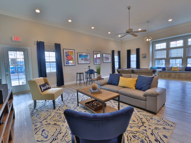 Interior of the St. Mary's Landing Apartments & Townhomes clubhouse