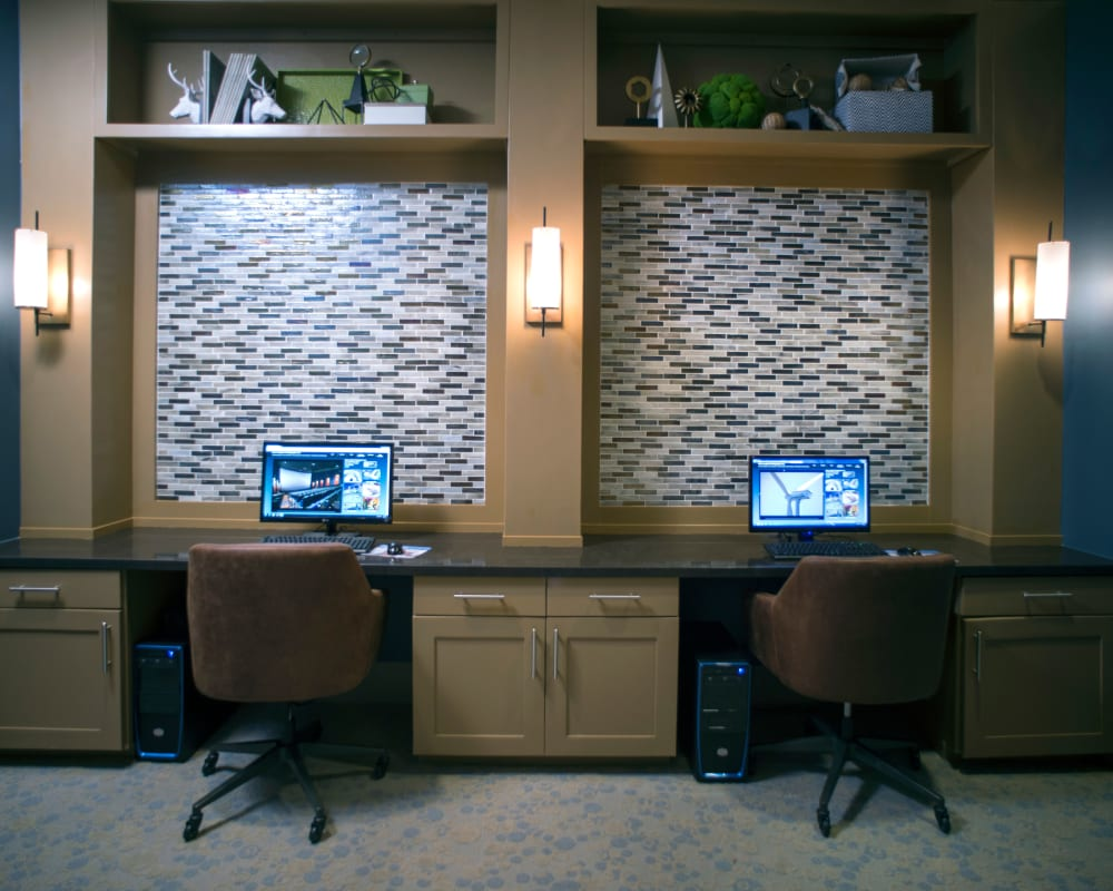 Business center at Savannah Oaks in San Antonio, Texas.