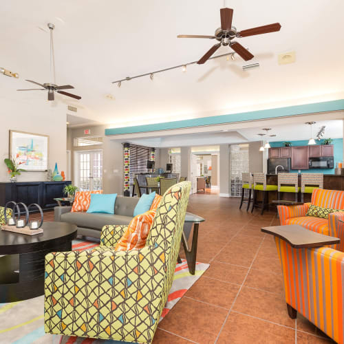 View virtual tour of the clubhouse at The Vue at Baymeadows Apartment Homes in Jacksonville, Florida