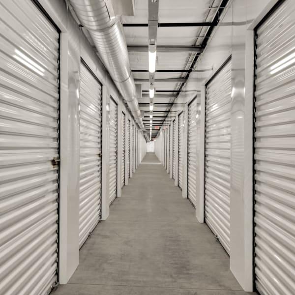 Climate controlled indoor storage units at StorQuest Self Storage in Cerritos, California