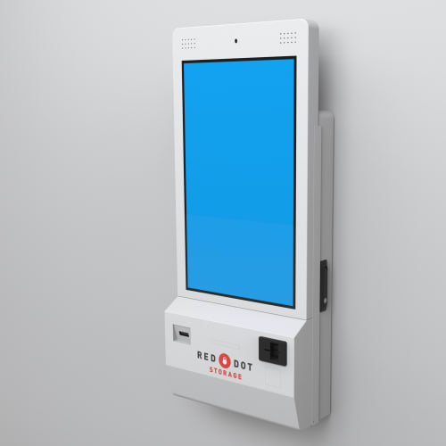 A 24-hour rental kiosk at Red Dot Storage in Antioch, Illinois