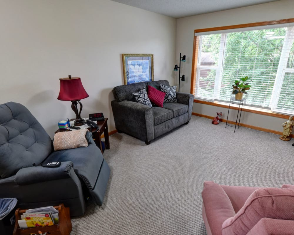Spacious and bright floor plans at Garnett Place in Cedar Rapids, Iowa.