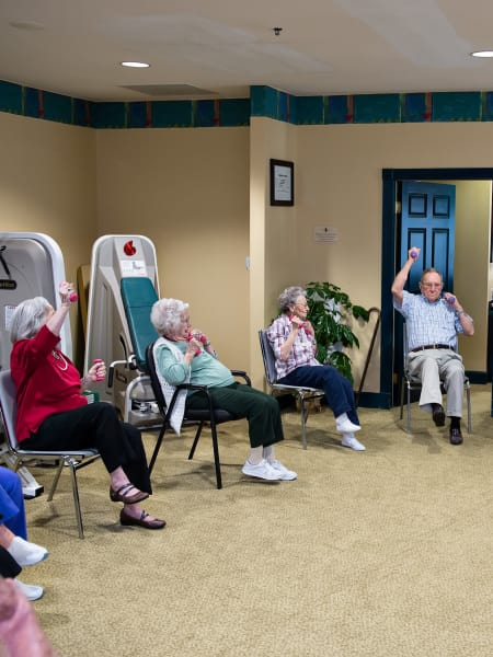 Group wellness courses for residents of Azalea Estates of Fayetteville in Fayetteville, Georgia