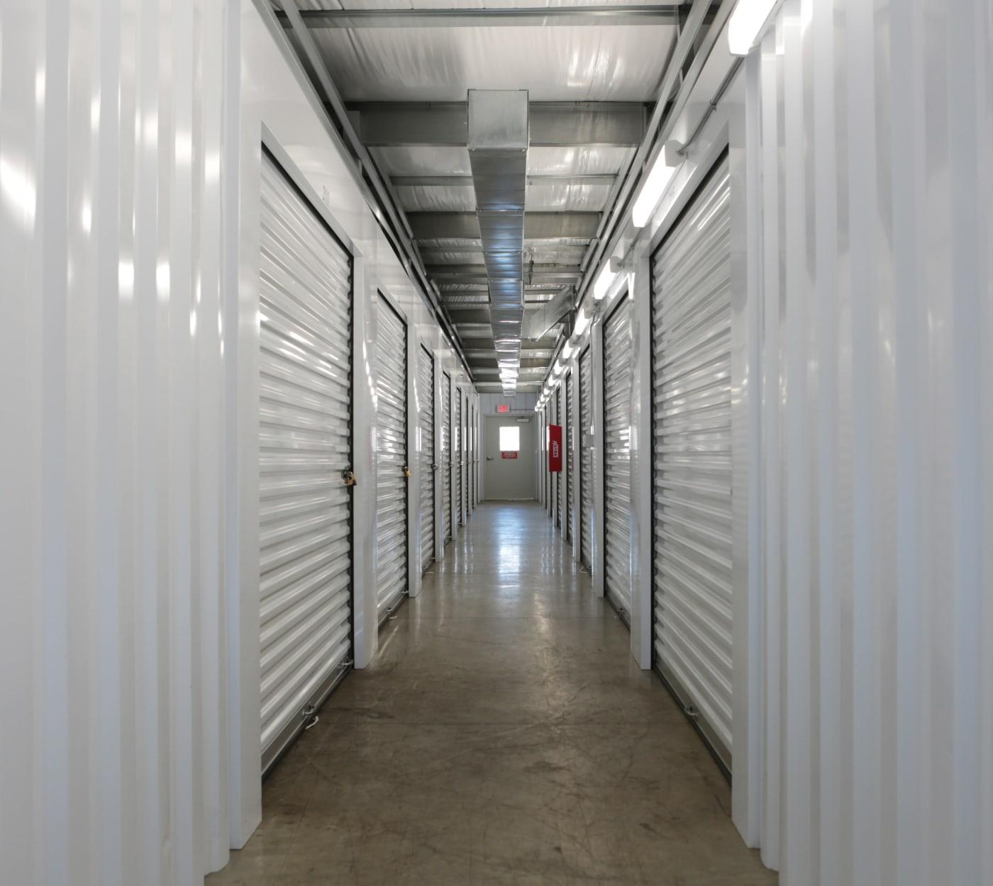 Indoor units at Midgard Self Storage in Wilmington, North Carolina