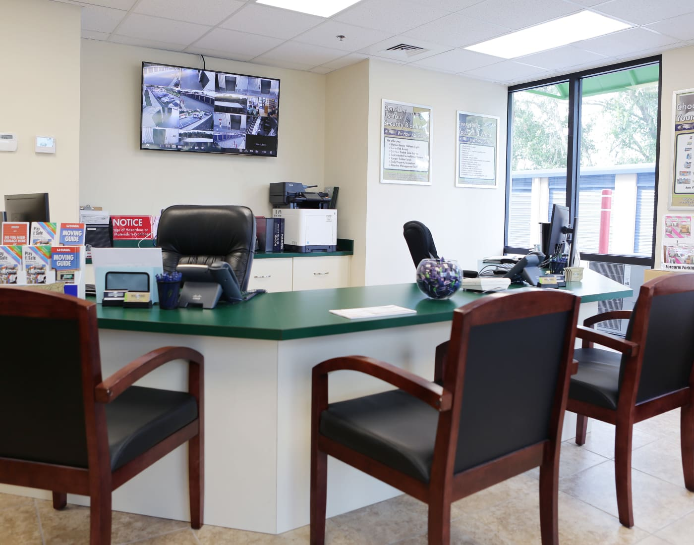 Leasing office at Midgard Self Storage in Bradenton, Florida
