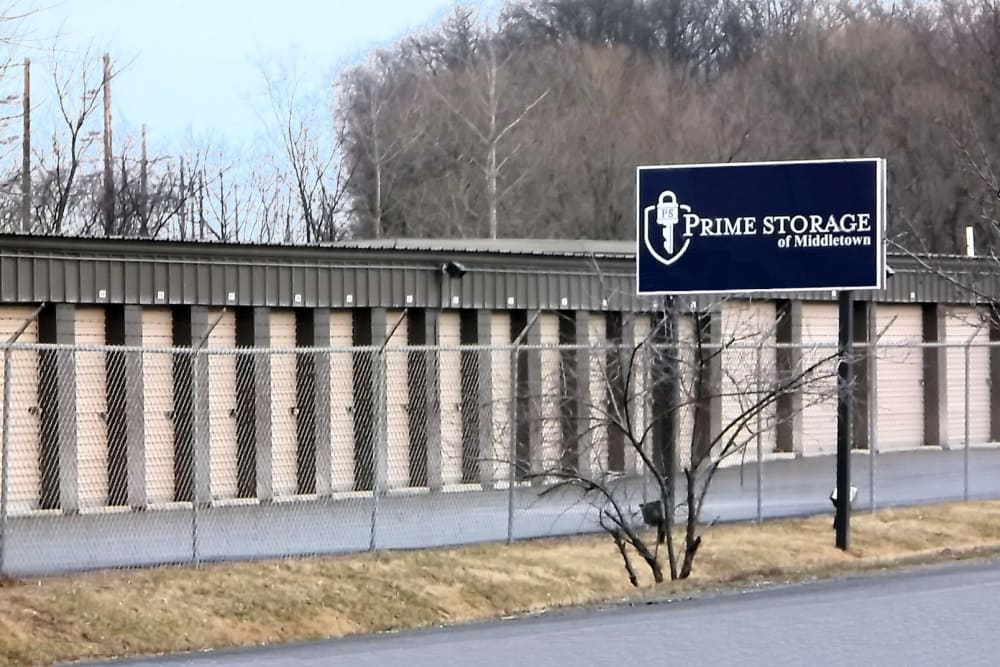 Sign at Prime Storage in Middletown, NY