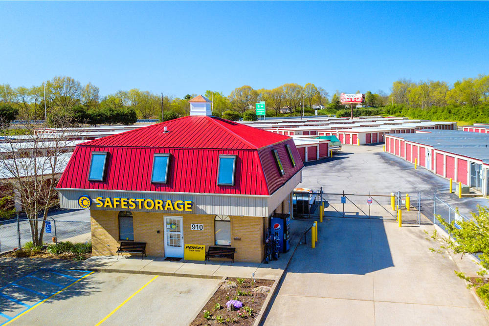 Aerial view of Safe Storage in Lexington, Kentucky