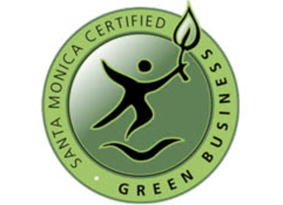 Green business logo at StorQuest Self Storage in Santa Monica, CA