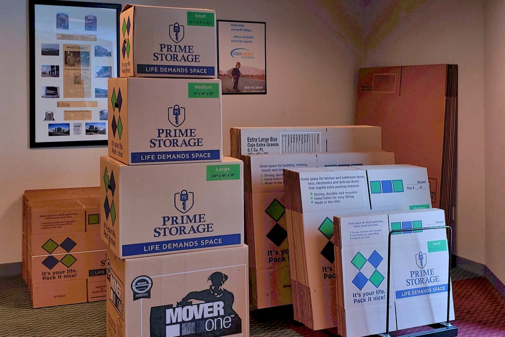 Boxes available at Capital Self Storage in York, PA