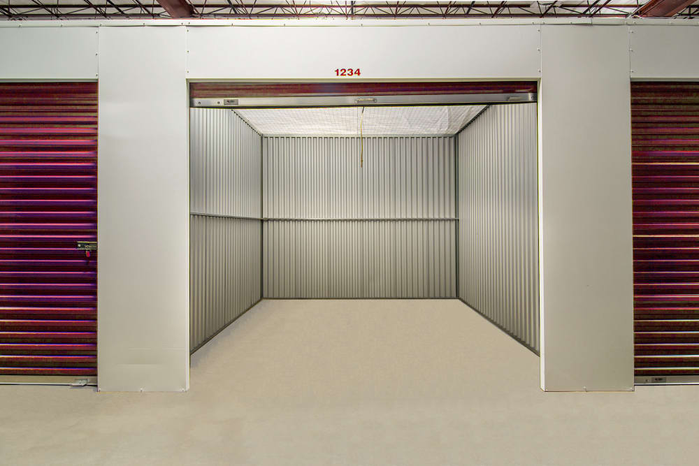Large interior units at Prime Storage in West Palm Beach, Florida
