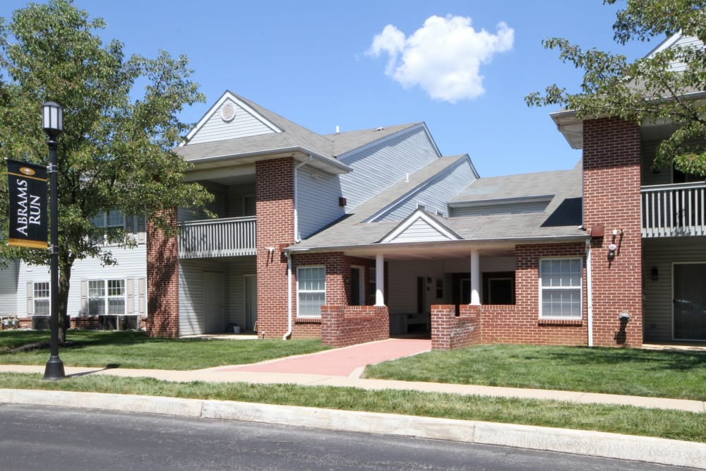 Exterior of Abrams Run Apartment Homes in King of Prussia, Pennsylvania