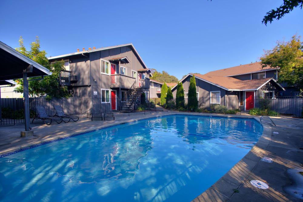 Resort-style swimming pool at Spring Lake Apartment Homes in Santa Rosa, California