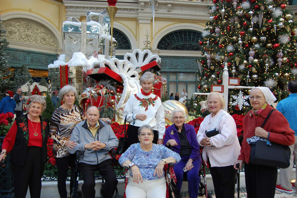 Resident holiday outing near Merrill Gardens at Green Valley Ranch in Henderson, Nevada.
