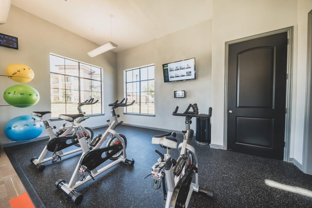 Fitness center at Evolv in Mansfield, Texas
