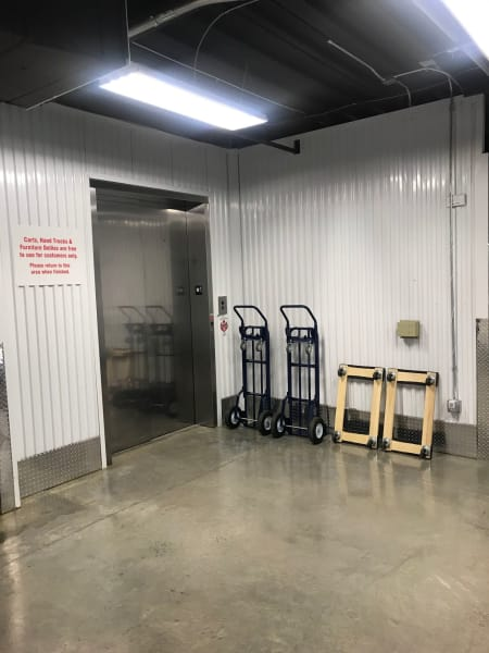 Elevator available at Steele Creek Self Storage in Charlotte, NC