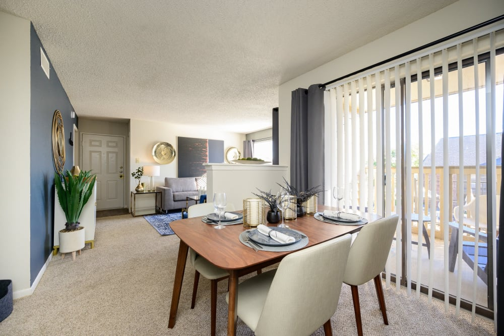 Spacious clubhouse with plenty of seating at Laurel Heights at Cityview in Fort Worth, Texas