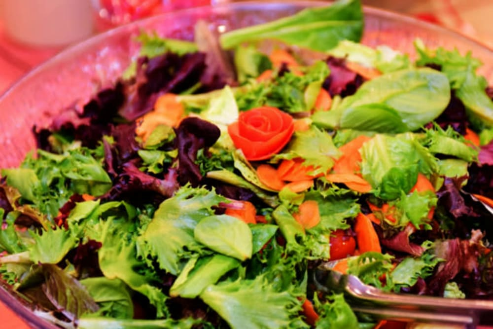 Delicious salad served at River Commons Senior Living in Redding, California