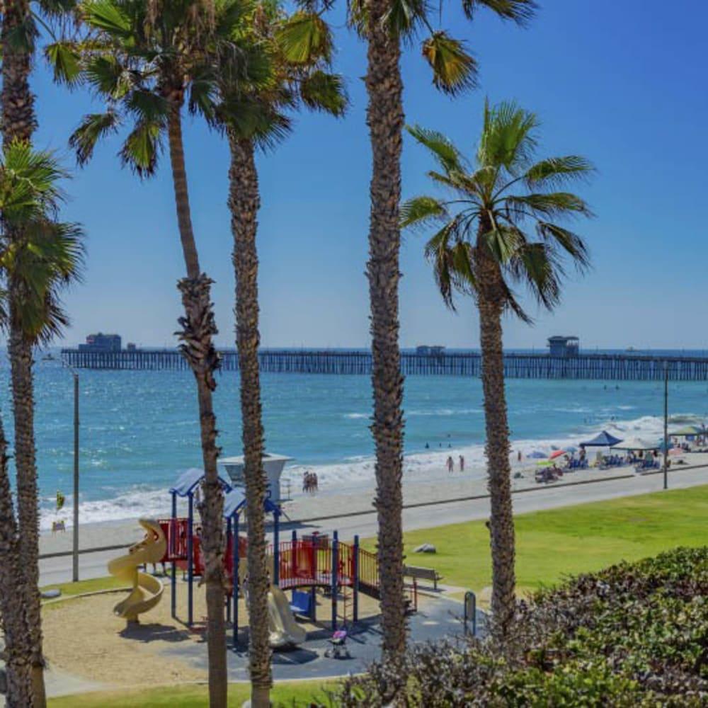 The beach near Merrill Gardens at Oceanside in Oceanside, California