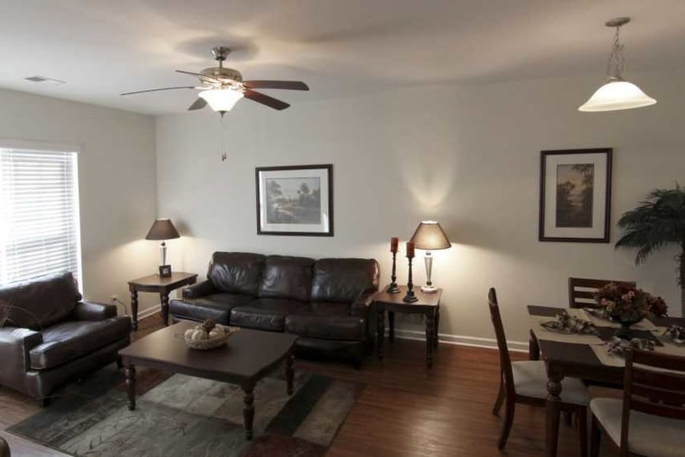Living room area at The Village at Mill Creek in Statesboro, Georgia