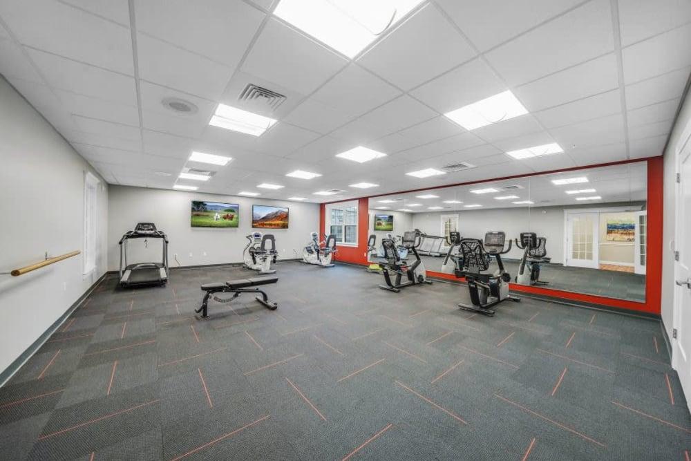 Fitness center at Mercer Hill at Doylestown in Doylestown, Pennsylvania
