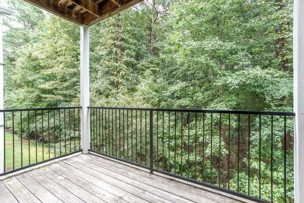 View from an apartment balcony at Hidden Creek in Morrow, Georgia