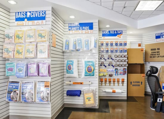 Packing and moving supplies at A-1 Self Storage in Belmont, California