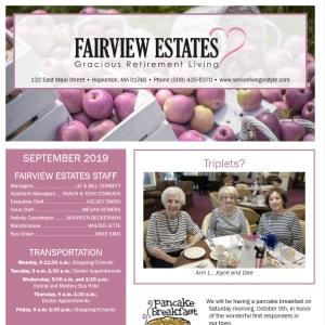 September Fairview Estates Gracious Retirement Living Newsletter