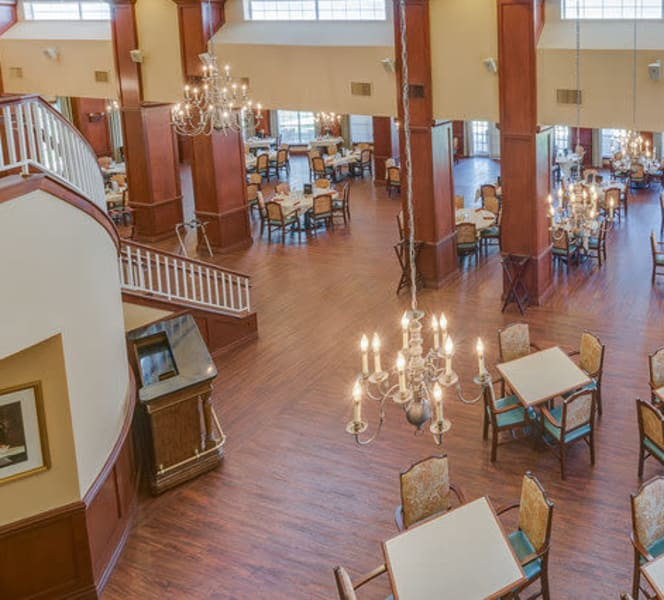 The dining area at Town Village in Oklahoma City, Oklahoma