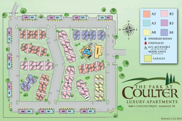 Site map for Park at Coulter in Amarillo, Texas