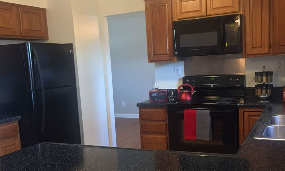 Full-equipped kitchen at Eagle Meadows Apartments in Dover, Delaware