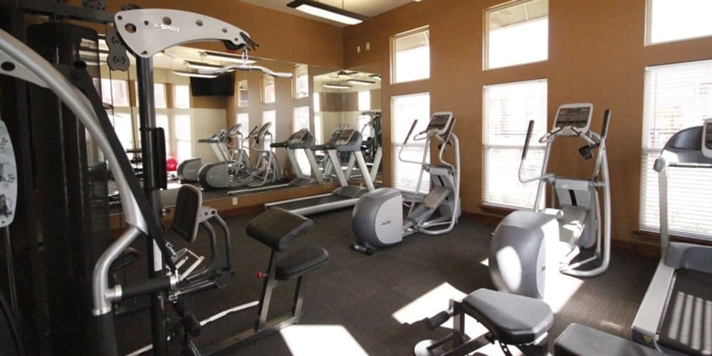 Fitness center for residents at The Icon at Lubbock in Lubbock, Texas