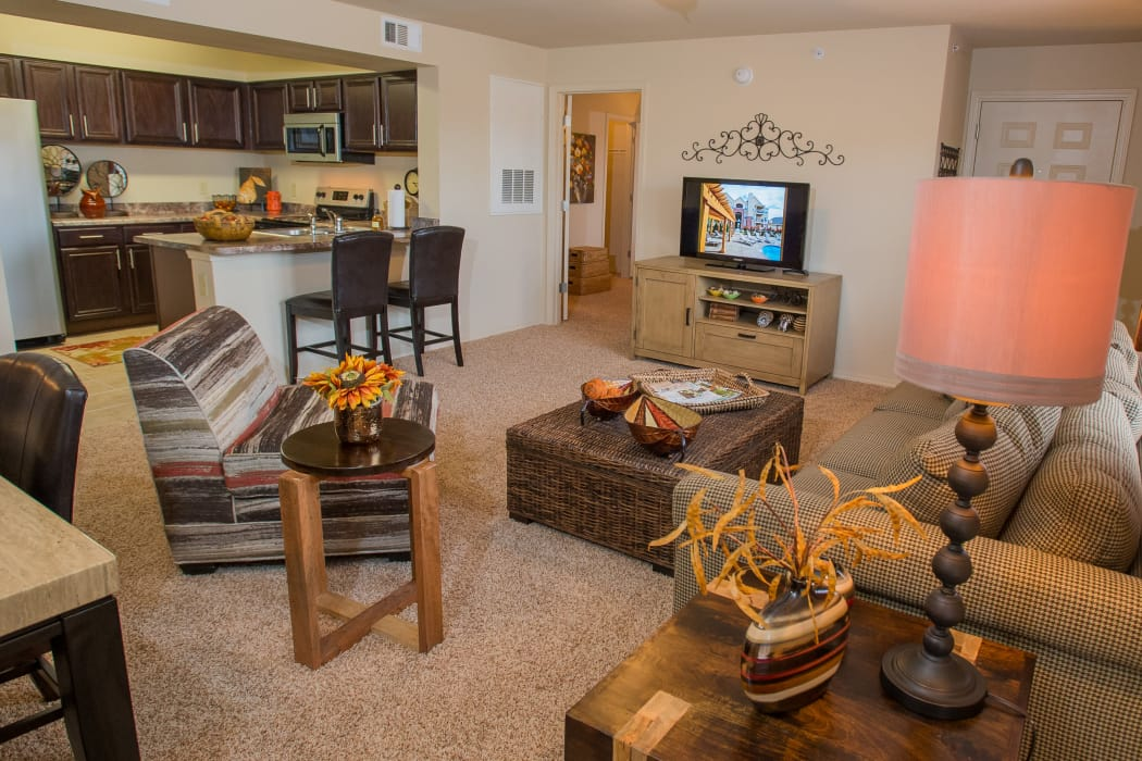 Living area at Park at Tuscany in Oklahoma City, Oklahoma