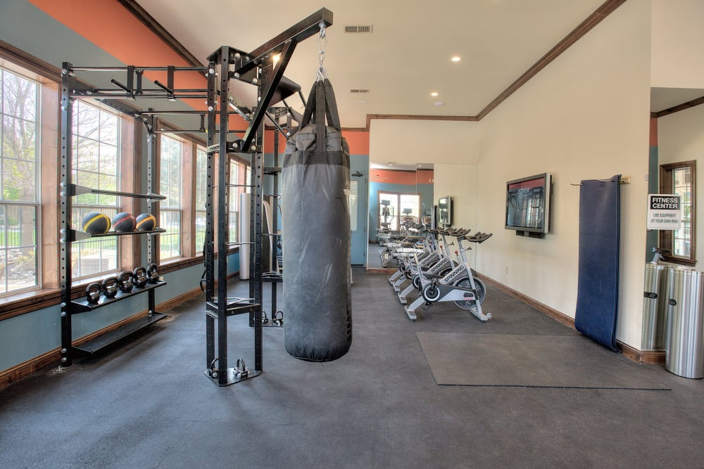 Onsite fitness center at The Vintage at South Meadows Condominium Rentals in Reno, Nevada