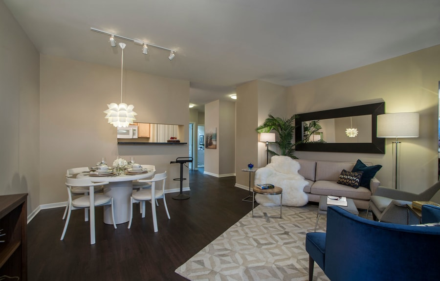 Open modern layout at Uptown in Canton in Canton, Michigan