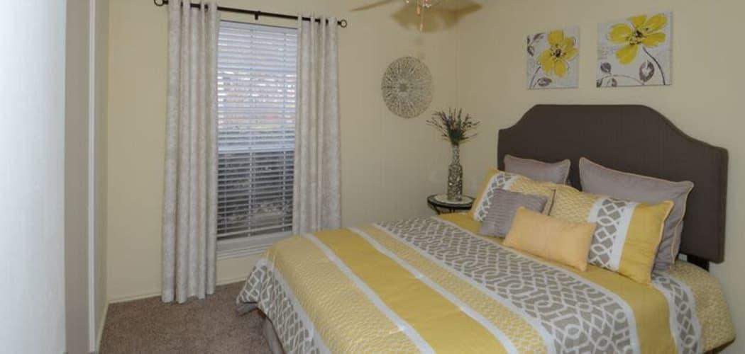 Spacious bedroom at Newport Apartments in Amarillo, Texas