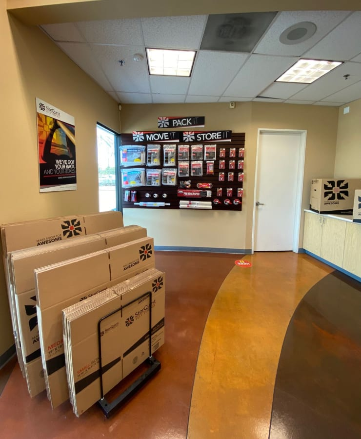 Packing supplies available at StorQuest Self Storage in Carson, California