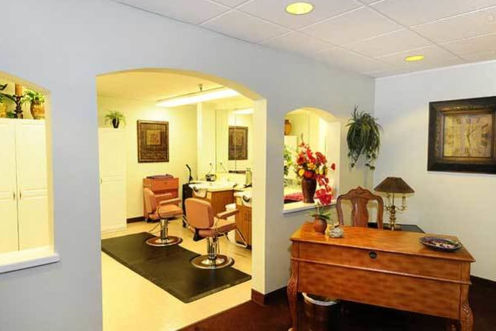 Residents can get their hair done on site at River Commons Senior Living in Redding, California