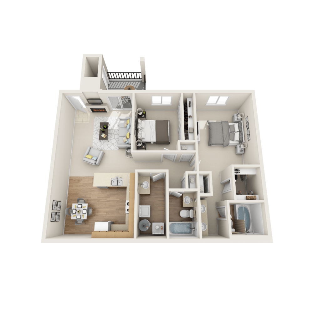 Ashley floor plan at Vistas at Stony Creek Apartments