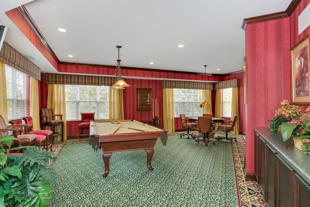 Club room at Applewood Pointe of Woodbury in Woodbury, Minnesota.
