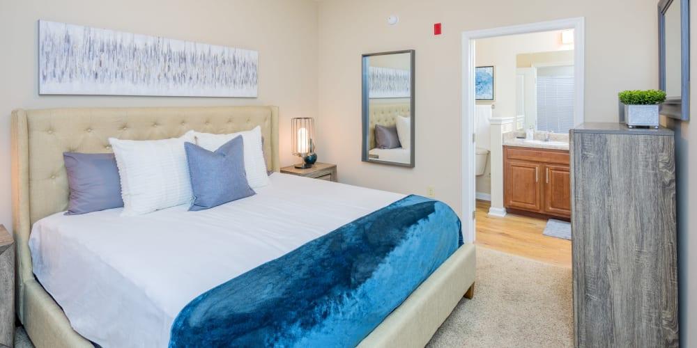 Spacious bedroom at Arbor Village in Summerville, South Carolina