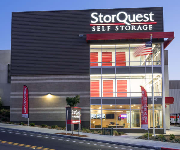 Self storage building exterior in La Mesa