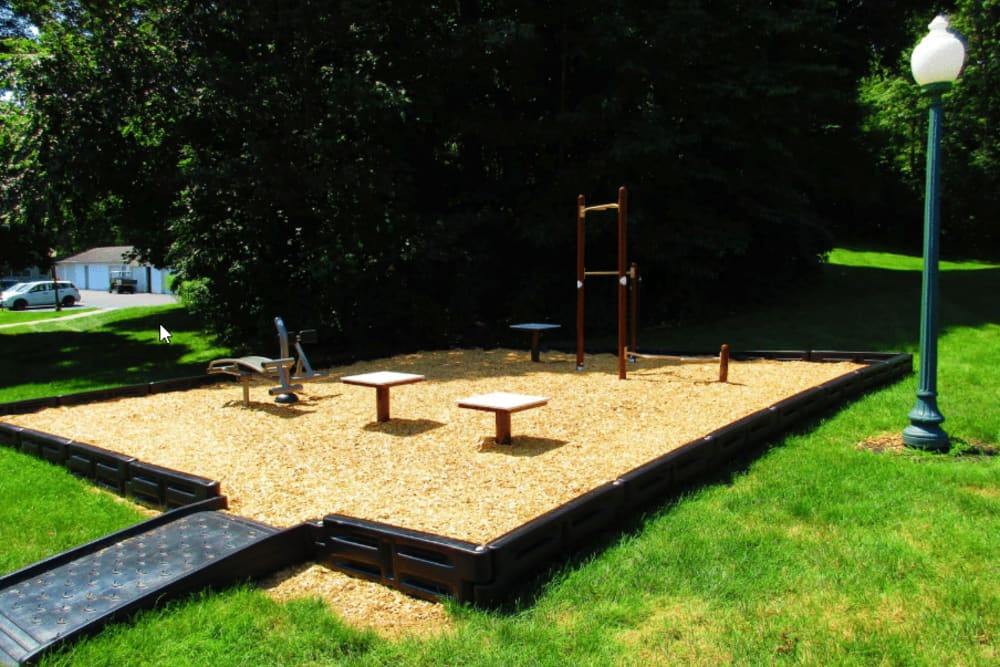 Onsite playground area at Vista Point Apartments in Wappingers Falls, New York