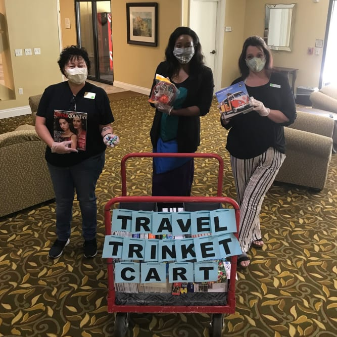 Travel safe message from residents at Grand Villa of Altamonte Springs in Altamonte Springs, Florida