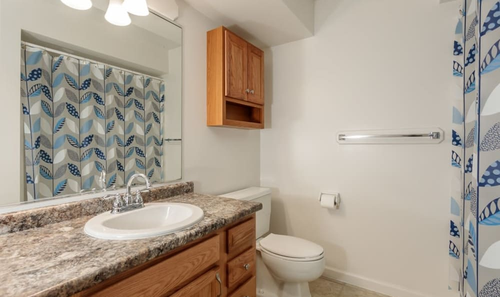 Bathroom at Steeplechase Apartments home