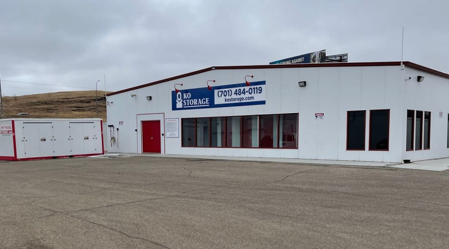 The front entrance to KO Storage of Valley City in Valley City, North Dakota