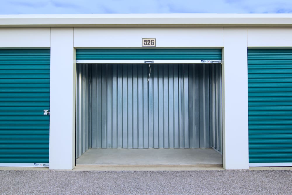 Drive up storage unit with rolld up door at Prime Storage in Broadview Heights, Ohio