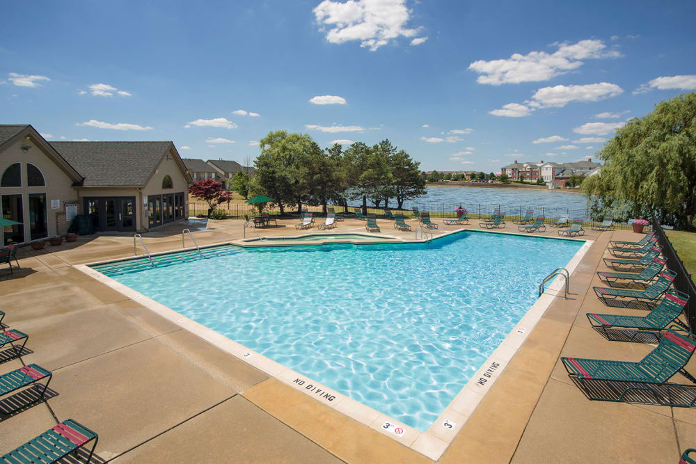 Outdoor pool at Lakeside Terraces in Sterling Heights, Michigan
